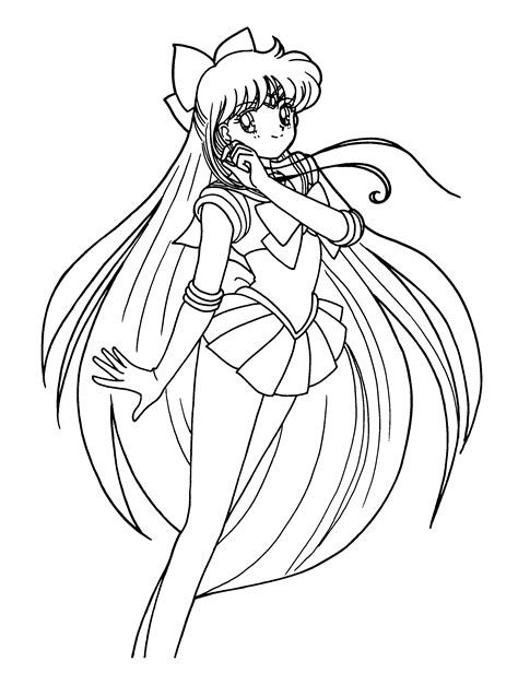 Sailor V Coloring Pages by Coloring Pages Sailor Moon Gifs Pnggif