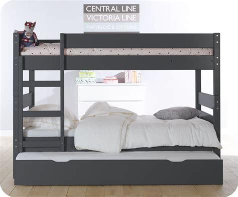 lit superpose lit superpos 233 enfant 1 2 3 gris 90x190 cm avec sommier gigogne