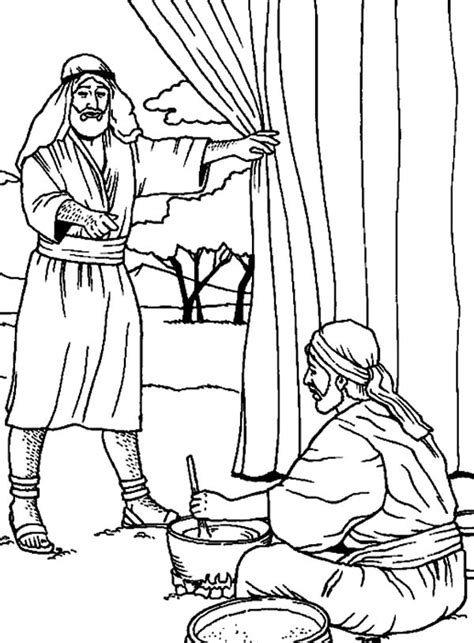 coloring page jacob and esau jacob and esau coloring pages az coloring pages