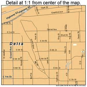 delta county colorado map delta colorado map 0819850