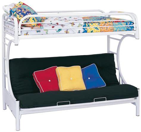 coaster futon bunk bed coaster 2253w twin futon bunk bed white 2253w at