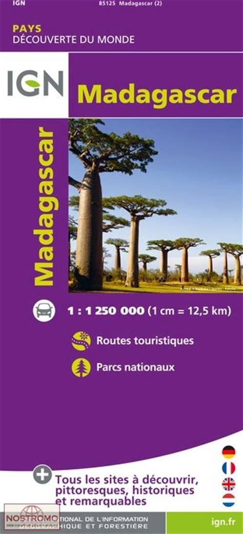 Madagascar Carte Touristique Ign Nostromoweb