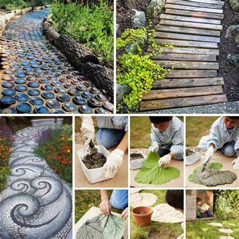 diy backyard landscaping ideas 25 lovely diy garden pathway ideas architecture design