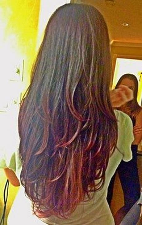 back of the hair long layers long layered hair from the back