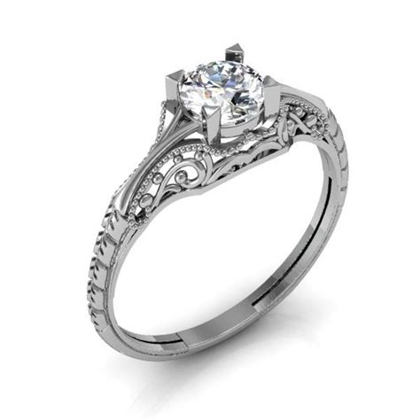 Eheringe Filigran by Custom Filigree Engagement Ring Vintage Solitaire