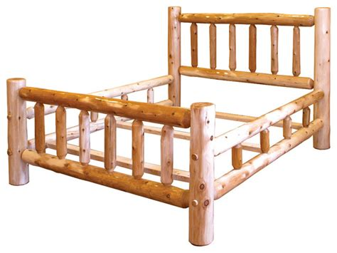 rustic full size bed rustic white cedar log mission style double side rail full