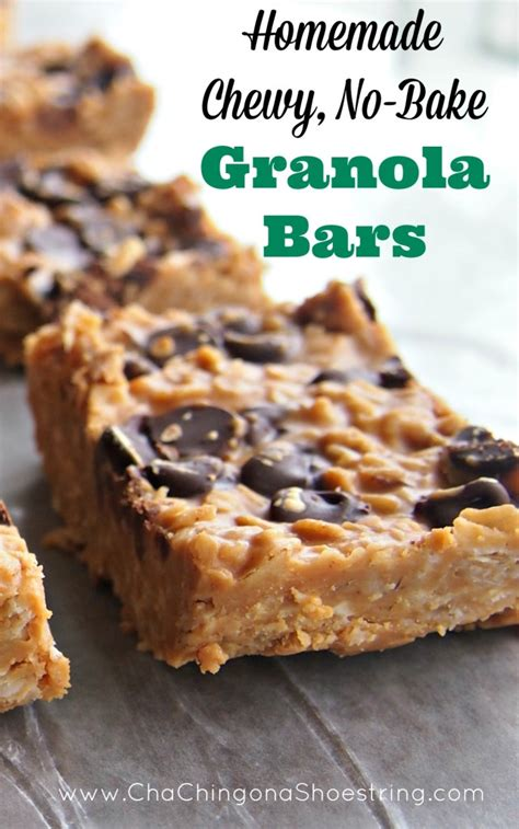Bars No More Than 23 Days by Chewy No Bake Granola Bars Recipe