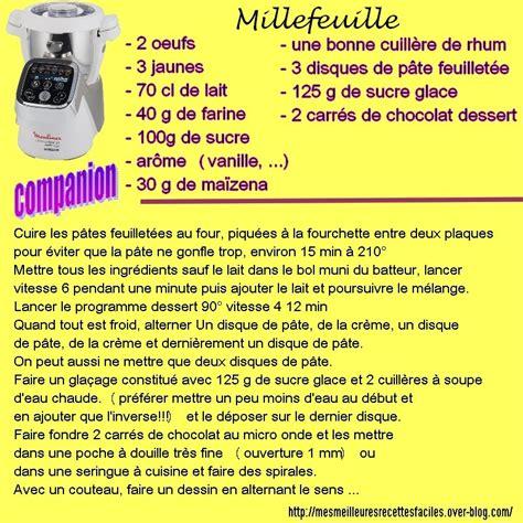 la cuisine de r馭駻ence pdf recette du millefeuille au companion ou pas mes