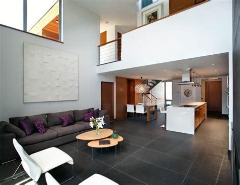 Fliesen Wohnzimmer Grau by Graue Fliesen F 252 R Wand Und Boden 55 Moderne Wohnideen
