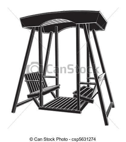 wooden swing chair vector eps vector search clip art