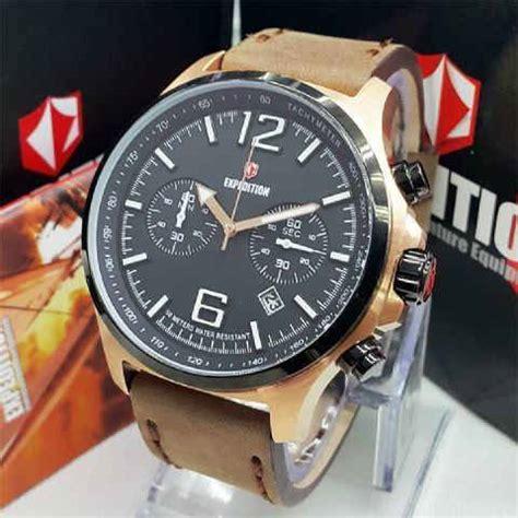 jual jam tangan expedition e 6657 brown rosegold rheya