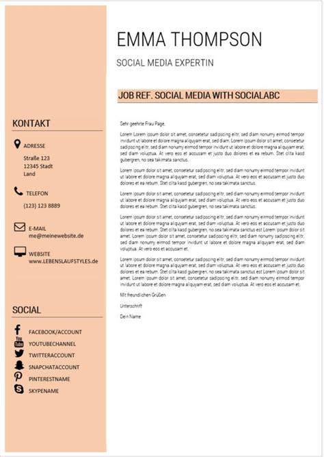 Moderner Lebenslauf Vorlage by ᐅ Lebenslauf Moderne Vorlage Perfekt F 252 R Social Media