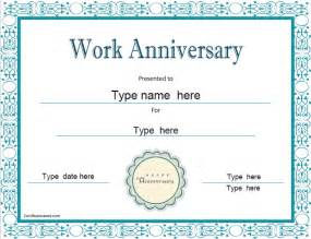 anniversary certificate template free special certificates work anniversary