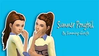 sims 4 child hair cc my sims 4 blog summer ponytail hair for girls by