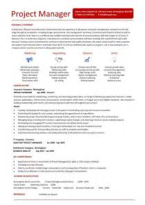 Exles Of Project Management Resumes by Resume Sle Project Manager Image Search Results
