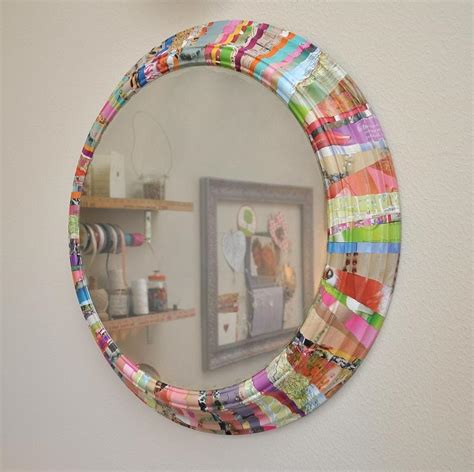 Decoupage Mirrors - the of up cycling diy mirror frame ideas you can make