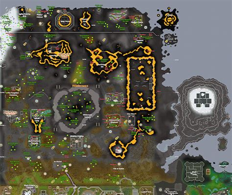 osrs runescape wilderness map achievement diary wilderness and falador party room in