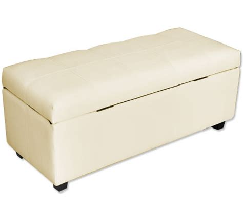 white faux leather ottoman white large rectangular ottoman with faux leather exterior
