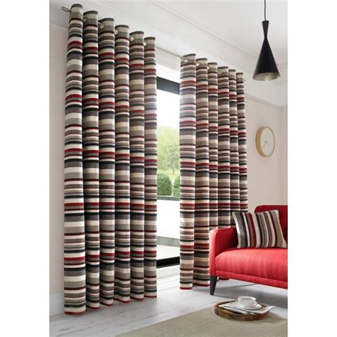 striped ready made curtains richmond orange striped heavy weight chenille lined ready
