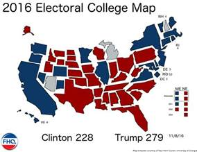 2016 presidential results map weighted by electorial votes
