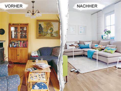 wohnzimmergestaltung vorher nachher vorher nachher umstyling im wohnzimmer
