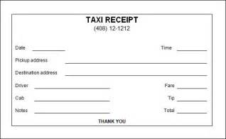 blank taxi receipt template taxi receipt template 9 free for word pdf