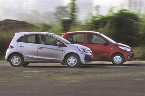 hyundai brio automatic honda brio vs hyundai i10 feature autocar india