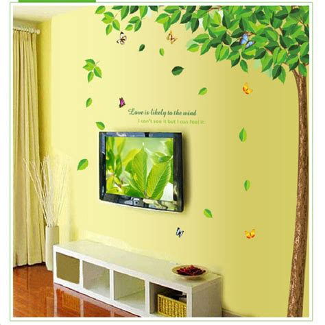 glass wall stickers large green tree sticker eco friendly transparent pvc glass wall stickers green tree decal