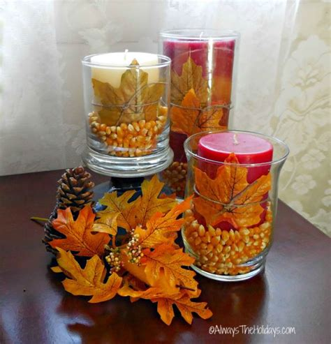 simple fall table decoration ideas creative ideas for fall decorations the gardening cook