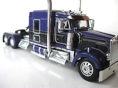 kenworth truck colors dcp kenworth w900l dark purple black in color diecast