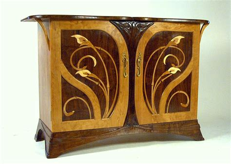 art nouveau couch hand crafted art nouveau cherry and walnut sideboard by