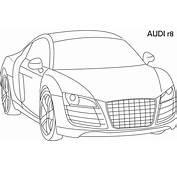 Super Car  Audi R8 Coloring Page For Kids