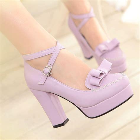 kawaii shoes japanese sweet bow kawaii heeled shoes 183 fashion