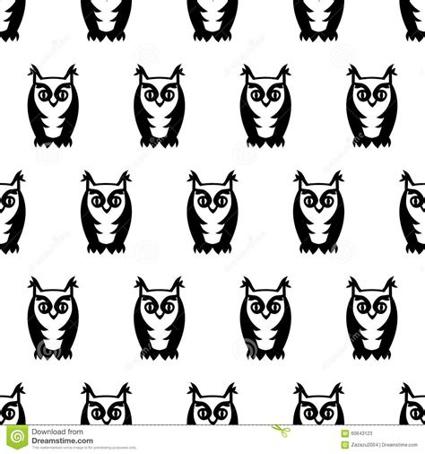 black and white owl pattern black and white seamless owl pattern cute cartoon owl