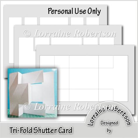 tri fold cards template with opening tri fold shutter card template 163 1 20 instant card