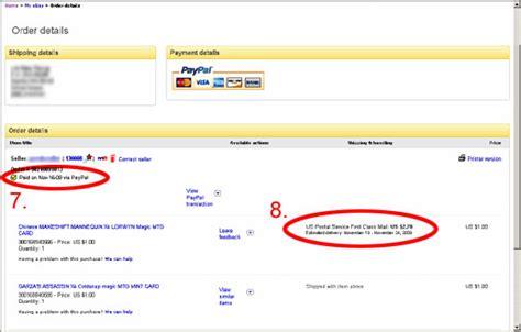 ebay orders mtgmintcard ebay shops