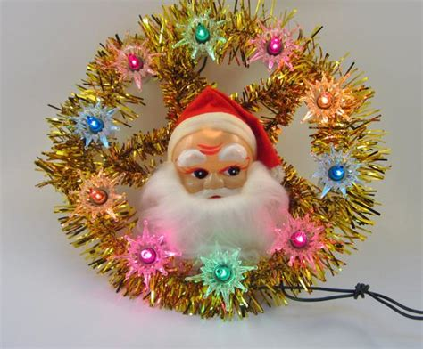 light up santa tree topper vintage santa lighted tree topper retro tree