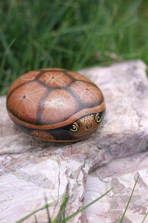 painted rocks hand painted turtle rock turtle rock