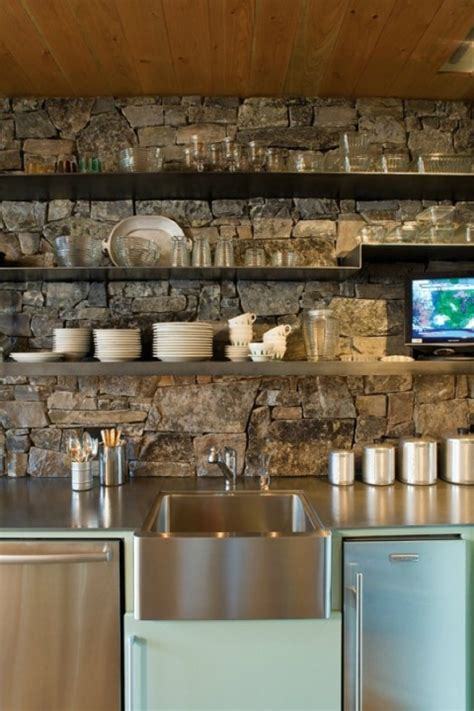 Kitchen Stone Backsplash by 40 Awesome Kitchen Backsplash Ideas Decoholic