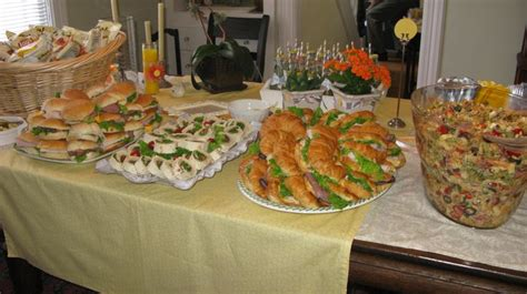 Luncheon Menu Ideas For Baby Shower by Baby Shower Luncheon Pasta And Sandwich Platters