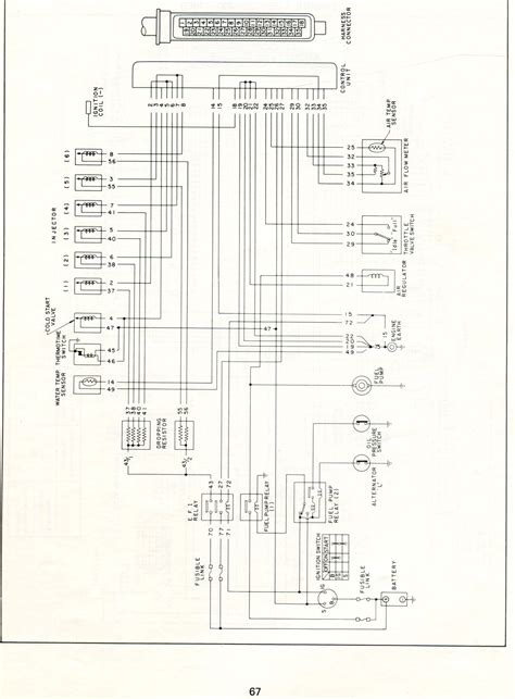 fuel injector wiring diagram datsun electronic fuel injection wiring diagrams