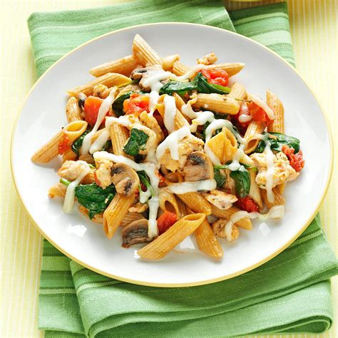 vegetables pasta sausage pasta with vegetables recipe taste of home