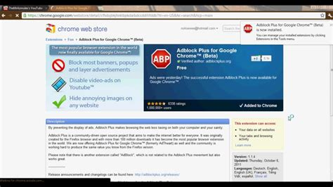 download youtube adblock how to install adblock plus for google chrome free youtube