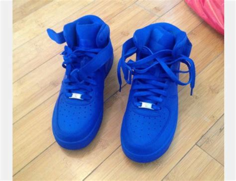 all color air ones shoes nike air 1 blue blue nike shoes blue