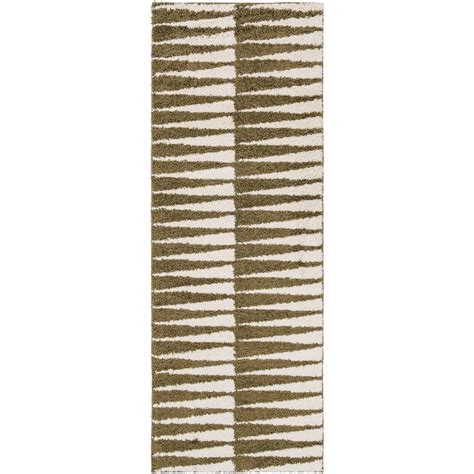 artistic weavers fronton olive 2 ft 7 in x 7 ft 3 in