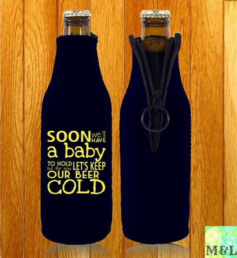 How To Hold A Baby Shower by Soon We Ll A Baby To Hold Baby Shower Koozies By