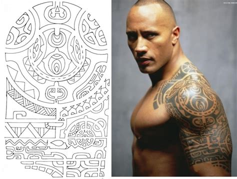 rock tattoo dwayne johnson maori the rock