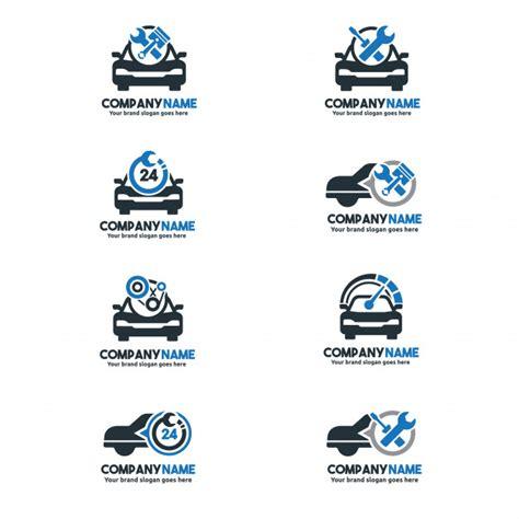 car service logo car service logo set car repair center set car service