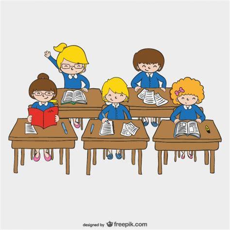 imagenes niños que van ala escuela dibujo de ni 241 os en la escuela descargar vectores gratis