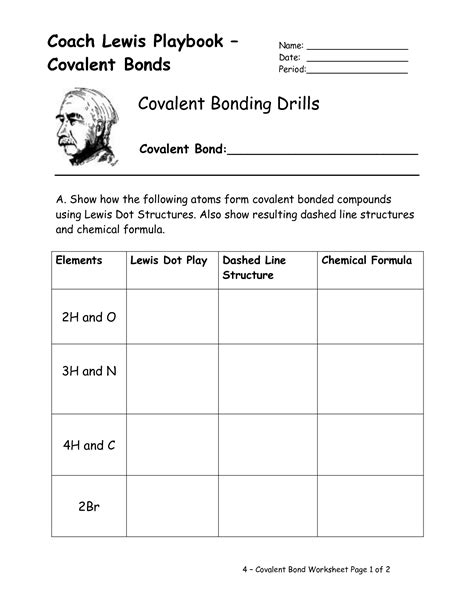 Ionic Bonding Worksheet by 12 Best Images Of Lewis Structures Covalent Bonding